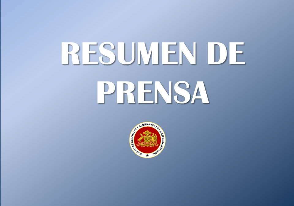 RESUMEN DE PRENSA 05 DE AGOSTO 2019